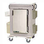 Harloff MH Treatment Cart, 1.8 Cubic Feet Medical Grade Refrigerator, One Drawers with Key Lock