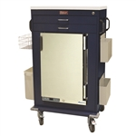 Harloff Large MH Treatment Cart, 1.8 Cubic Feet Medical Grade Refrigerator, Two Drawers with Key Lock