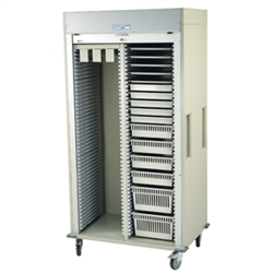 Double Column Catheter Procedure Cart with Tambour Door
