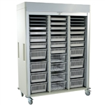 Harloff Triple Column Medical Storage Cart