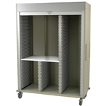 Harloff MS8160R-SPLITB Triple Column Medical Storage Cart