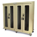 Harloff Quad Column Medical Storage Cabinet - Glass Doors - Keypad E-Lock