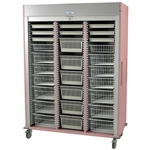Harloff Triple Column Medical Storage Cabinet, Stainless Steel, H+H Panels, Solid and Three Doors with Key Lock