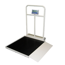 Befour MX450 Tilt & Roll Wheelchair Scale with Handrail (Single Ramp)