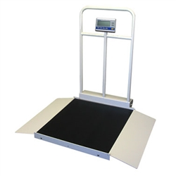 Befour MX450D Tilt & Roll Wheelchair Scale with Handrail (Dual Ramp)