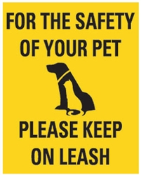 "Safety for Pet Sign 8"" x 10"""