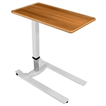 Novum Medical iSeries Overbed Table - Standard Gray - Flip Top