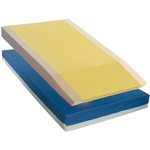 "Multi-Layered/Multi-zoned Foam Mattress w/3"" Elevated Perimeter and Cut-out 80"" x 36"" x 6"""