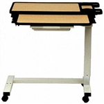 Novum Overbed Table with Split Top, Gas Assist & Molded Edge