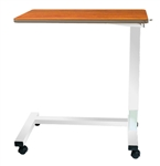 "Novum Medical Acute Care Overbed Table with Vanity - Automatic 18 x 32"" Top"