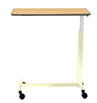 "Novum Medical Economy Overbed Table - Spill Lip - 15"" x 30"" Top - H Base - No Vanity"