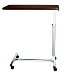 "Economy Overbed Table - 15 x 30"" Top - H Base No vanity Walnut only"