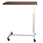 "Novum Medical Economy Overbed Table with Vanity - 15"" x 30"" Top with Vanity"