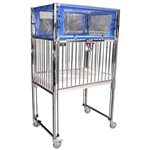Chrome Child Klimer Crib, Gatch with Safety Extender, 30 x 60""