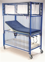 Chrome Youth Klimer Crib with Gatch Pan Surface 36 x 72""