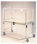 Epoxy Child ICU Crib, Manual Hi-Lo, 4 Side Release, Gatch/Trend, 30 x 60""