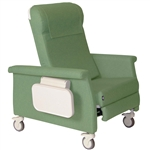 Bariatric Medical Transport Recliner - Trendelenburg - 2 side tables - 450 lbs Cap.