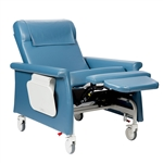 Novum Medical Bariatric Medical Transport Recliner, Trendelenburg, 2 side tables, Swing Arms, 450 lbs Capacity