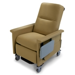 Bariatric Medical Recliner - 2 Swing Arms - Side Table - 500 lb Capacity