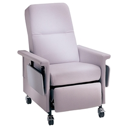 Bariatric Medical Recliner, Lower Seat, Side Table, 500 lb Capacity