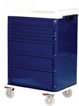 OptimAL Line, Aluminum Six Drawer Anesthesia Cart, Key Lock