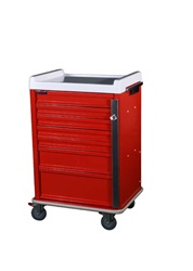 OptimAL Line, Aluminum Seven Drawer Emergency Cart