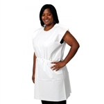 "Pro Advantage 3-Ply Tissue Exam Gowns - White, Traditional Front/Back Opening, 30"" x 42"" (50/cs)"