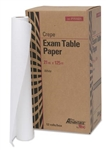 "Exam Table Paper - 21"" x 125 ft, White, Crepe"