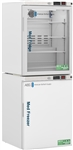 10 cu ft ABS Glass Door Refrigerator & Solid Door Freezer Combination - Hydrocarbon (Pharmacy Grade)