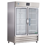 49 cu ft Glass Door Stainless Steel Pharmacy Freezer - Hydrocarbon