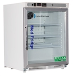 4.6 Cubic Foot ABS Premier Pharmacy/Vaccine Built-In Undercounter Refrigerator - Glass Door ADA