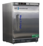 4.5 Cubic Foot ABS Premier Pharmacy/Vaccine Stainless Steel Built-In Undercounter Refrigerator