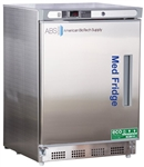 4.5 Cubic Foot ABS Premier Pharmacy/Vaccine Stainless Steel Built-In Undercounter Refrigerator, Left Handed - Hydrocarbon