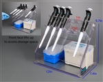 Poltex Pipette (Pipet) Rack with Hinged Storage Compartment