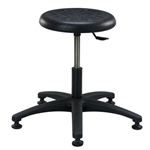 Brewer Round Polyurethane Lab Stool (ABS Plastic Base)