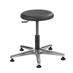 Brewer PRM-1 Round Polyurethane Lab Stool (Aluminum Base)