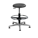 Brewer PRM-3 Round Polyurethane Lab Stool (Aluminum Base)