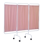 Antimicrobial 3-Panel Privacy Screen without Casters