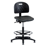 Brewer PT-3 Polyurethane Task Chair w/ Adjustable Footring (Seat Tilt)