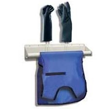 Techno-Aide Veterinary Apron and Glove Rack