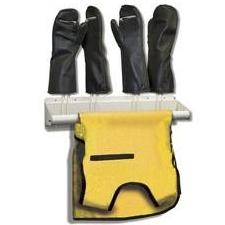 Techno-Aide Veterinary Deluxe Apron and Glove Rack