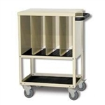 Techno-Aide Mini Veterinary Cassette Cart