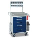 Detecto Loaded Rescue Cart - Blue (5-Drawers)