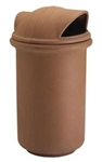 R&B 39 Gal Waste Receptacle w/ Dome Top