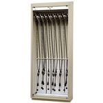 Scope Storage Cabinet w/ Tambour Locking Door (16 Scope Storage)