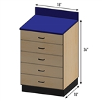 Pivotal Health Stor-Edge Medical Base Cabinet with 5 Drawers