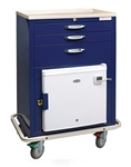 3-Drawer Hyperthermia Cart w Refrigerator/Freezer