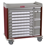 Harloff SL54BIN3 Standard Line 54 Bin Medication Cart w/Key Lock