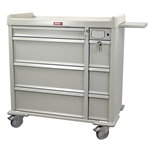 Harloff Punch Card Medication Cart