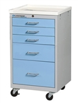 Lakeside 5-Drawer Mini Cart, Key Lock